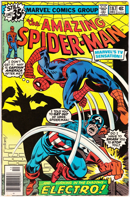 Amazing spiderman 187 1st series 1963 december 1978
