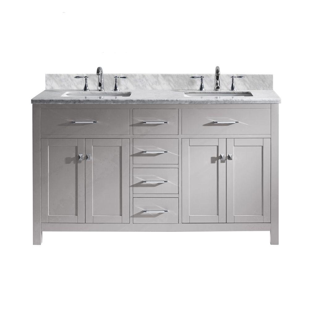 39+ 60 inch double bathroom vanity best