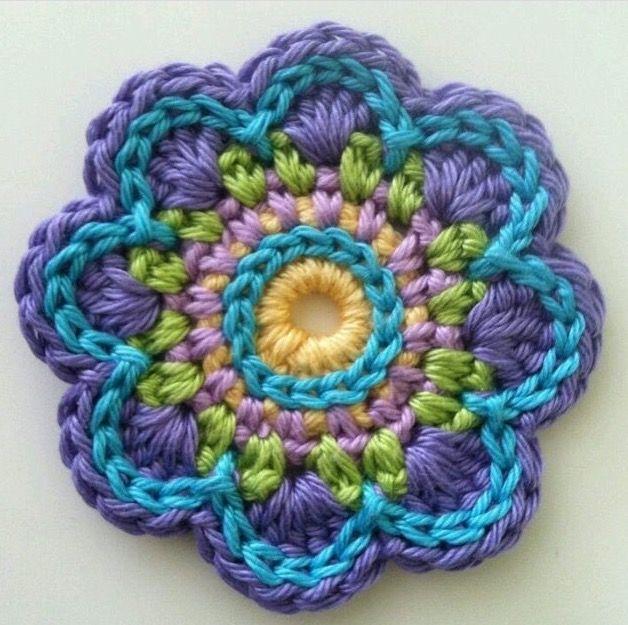 Pin de Ann Hatzis en Mandalas   Pinterest   Patrón de ganchillo ...