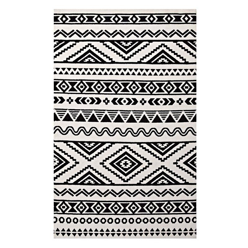Home In 2020 Black White Rug 8x10 Area Rugs Area Rugs