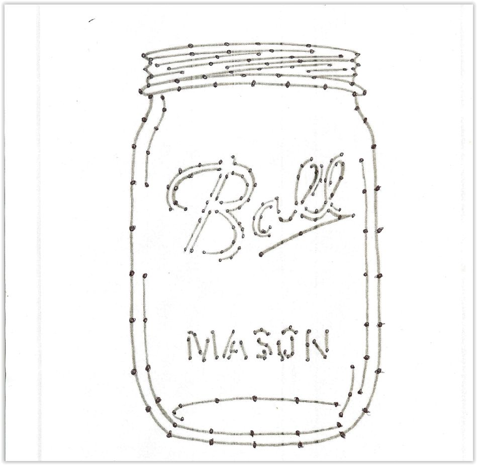 Ball Mason Jar Nail Template For String Art you can