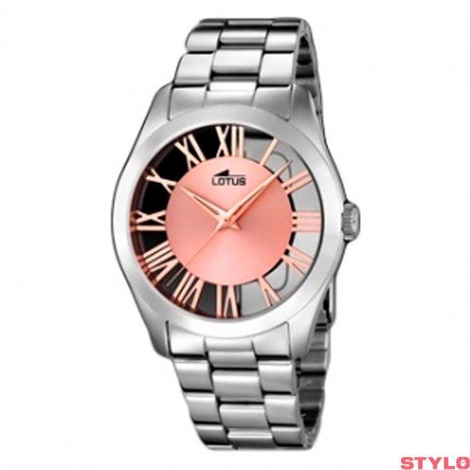 e1f232071bdd Reloj Lotus Señora plateado letras lotus rosa