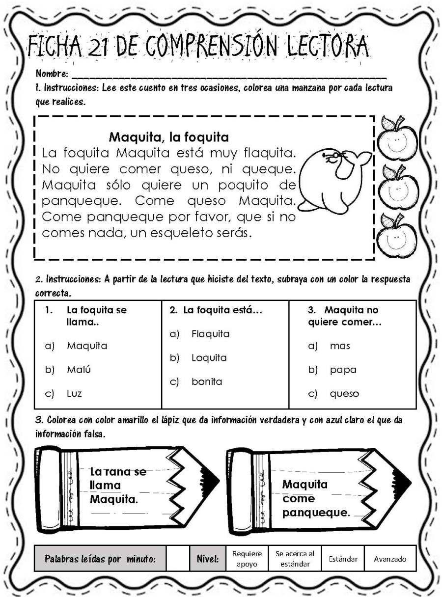 Lecturitas I Fichas De Comprensión Lectora Página 24 Comprensión Lectora Lectura De Comprensión Lecturas Para Comprension Lectora