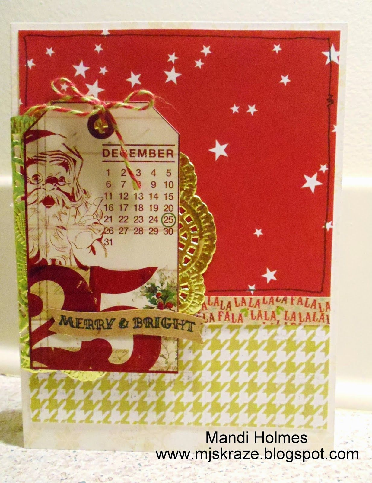 Kraze of MJ: Merry & Bright Holiday Card | Cards Christmas (& Ideas ...