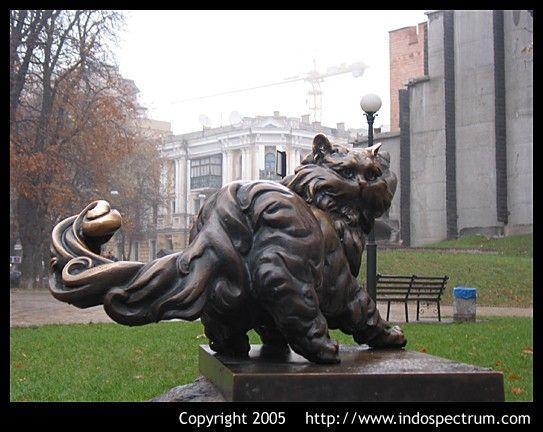 Cat Statue, Golden Gate, Kiev, Ukraine