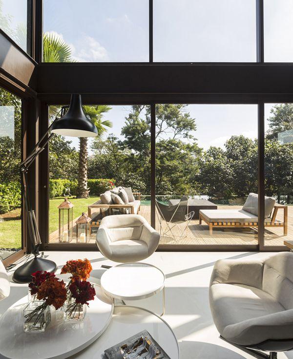 Casas con ventanas panorámicas | Decoración | Pinterest | Ventana ...