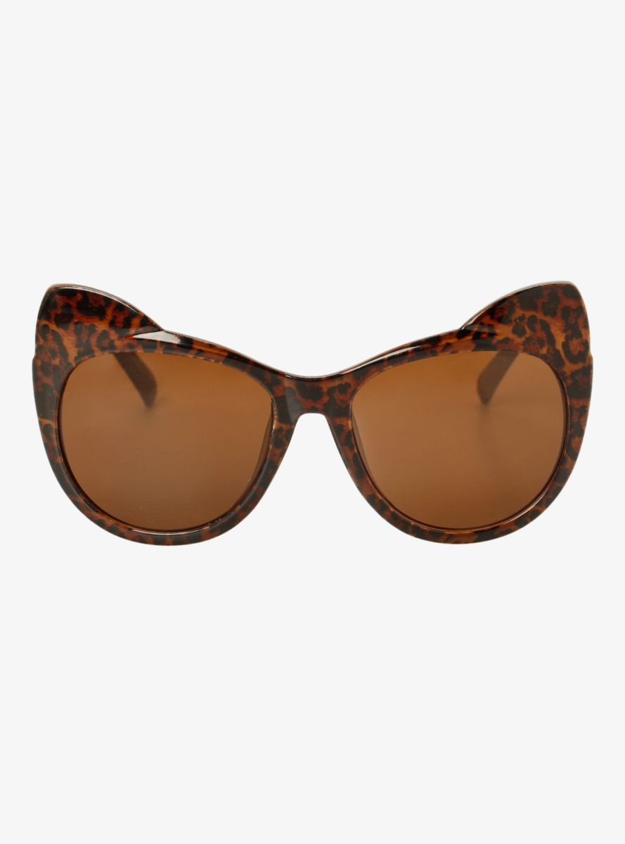 Animal Print Cat Ear Sunglasses From the Plus Size Fashion Community at www.VintageandCurvy.com