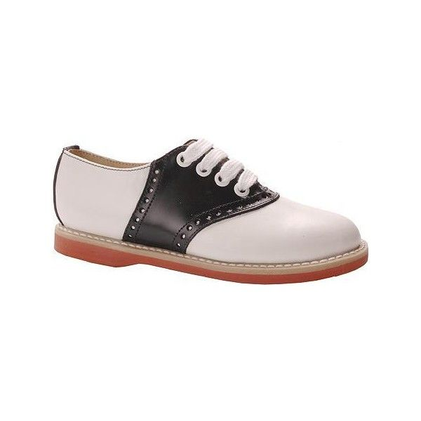 b4ec1545f26eb3 Willits Classic Saddle Oxford Black White Saddle Shoes Women -  iWantaPair.com - Color  White found on Polyvore featuring polyvore