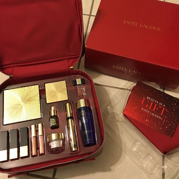 Estée Lauder Holiday Makeup Set New in box, only opened for display picture. Comes with free mini makeup bag gift. Originally purchased from Macy's.