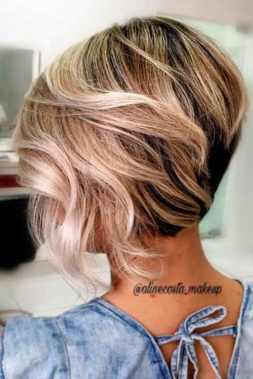 25 Amazing Graduated Bob Haircuts For Modern Ladies In 2020 Short Hair With Layers Thick Hair Styles Short Hair Styles