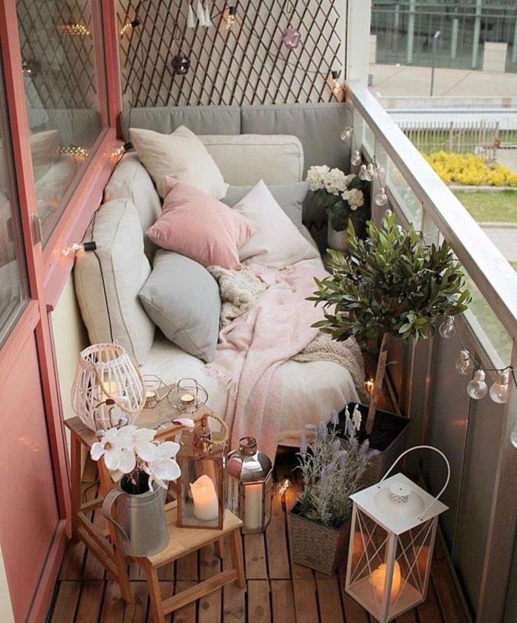 35 Apartment Balkon Dekorieren von Ideen mit kleinem Budget - Balkon Garten 100 #balkondeko
