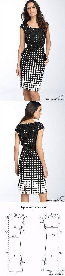 Patrón simple, elegante vestido.