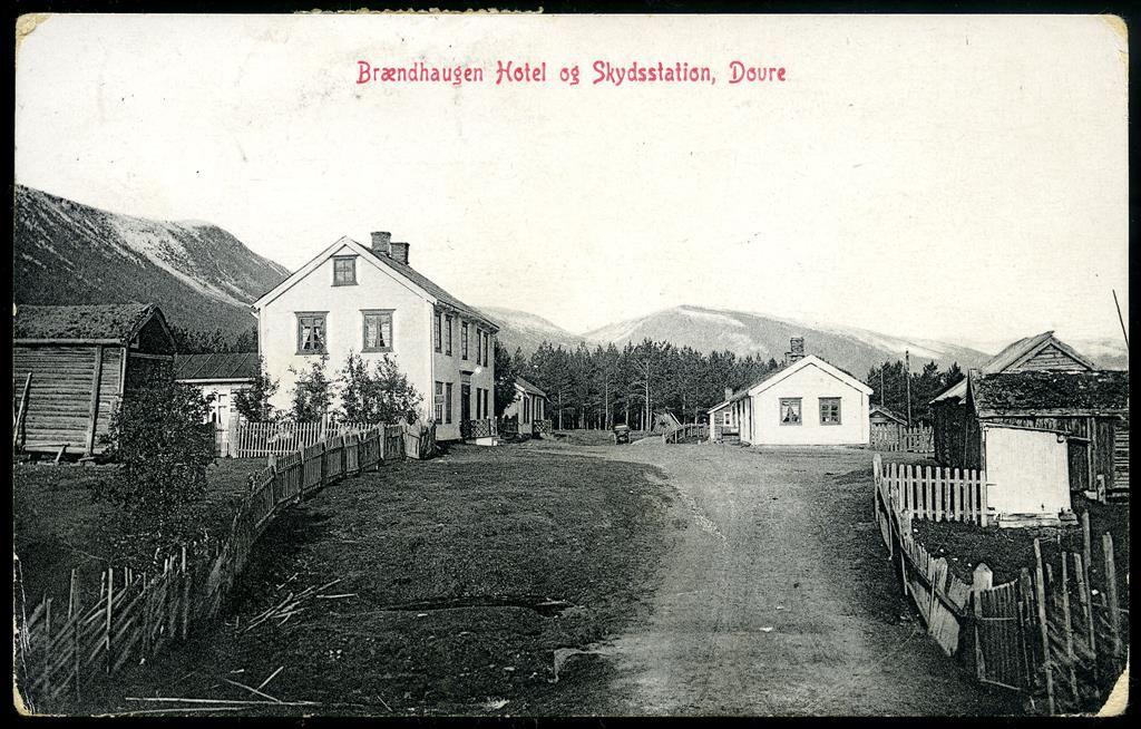 Oppland fylke Gudbrandsdalen Sel kommune? BRÆNDHAUGEN HOTEL OG SKYDSSTATION, DOVRE før 1905 Utg GB