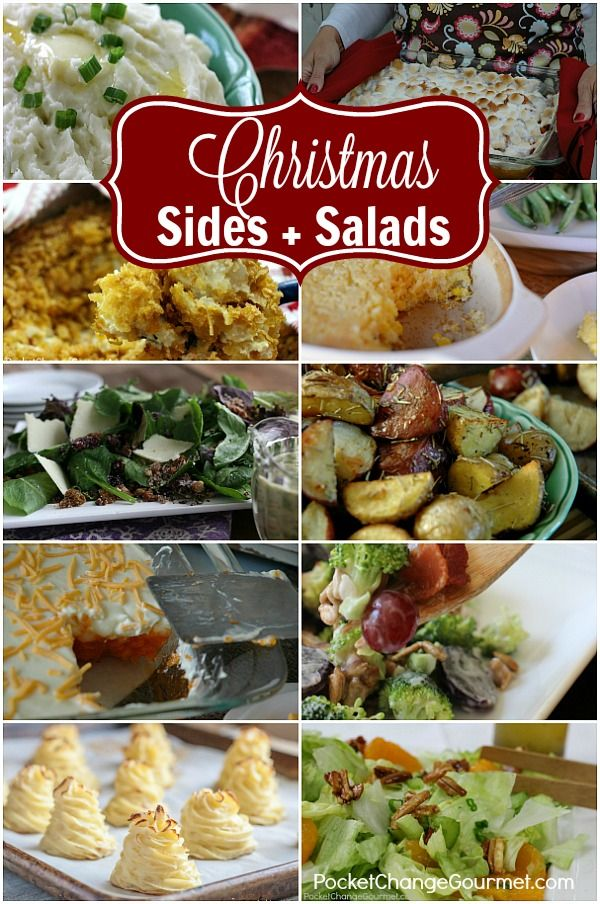 christmas side dishes and salads sides pinterest christmas side dishes christmas side and fluffy mashed potatoes - Christmas Side Dishes Pinterest