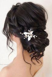 Frisuren für Hochzeiten lange Haare, Hochzeit Hochsteckfrisuren mit Zöpfen, Ho…