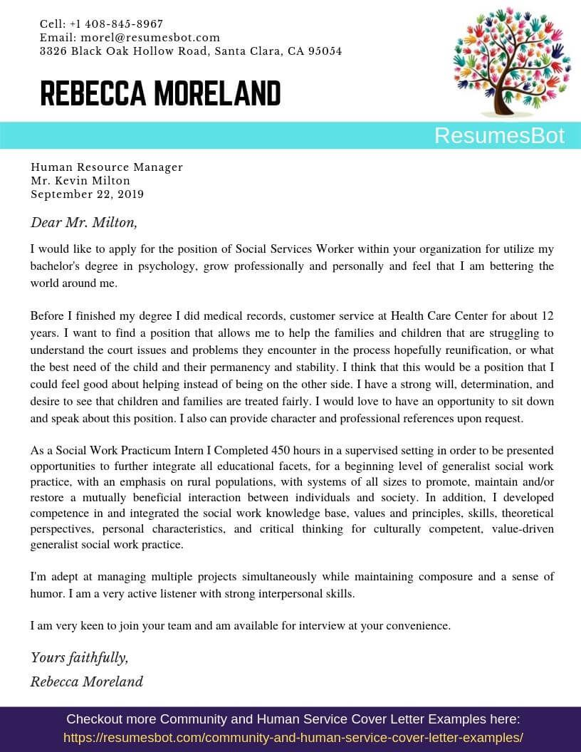 Social Services Worker Cover Letter Samples & Templates