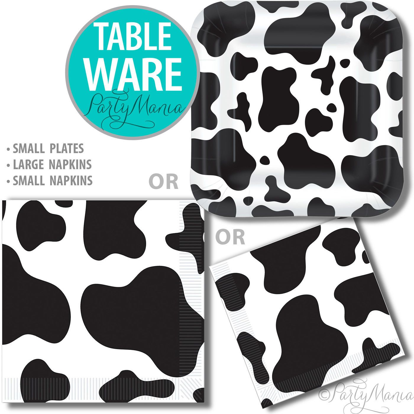 Cow print farm animal western birthday party supplies decorations napkins plates  sc 1 st  Pinterest & Cow print farm animal western birthday party supplies decorations ...
