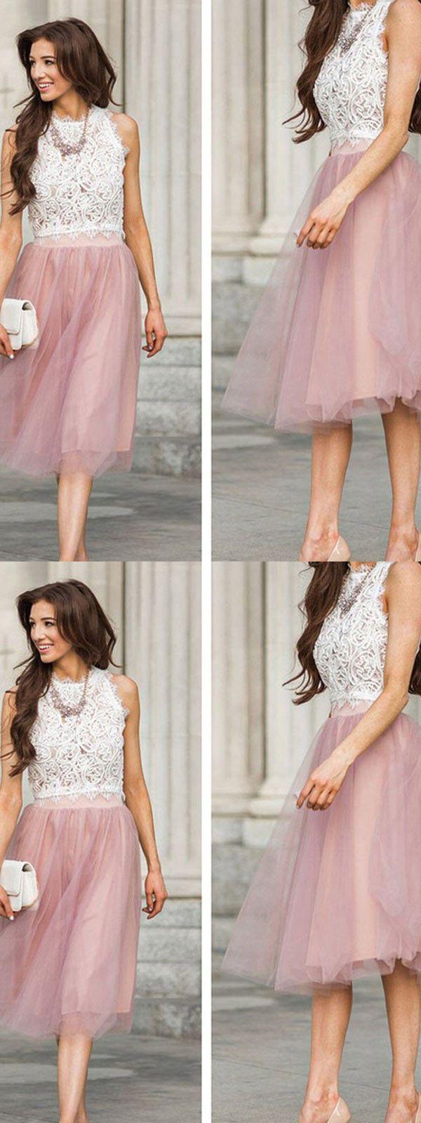 Aline scoop tealength sleeveless tulle homecoming dressshort