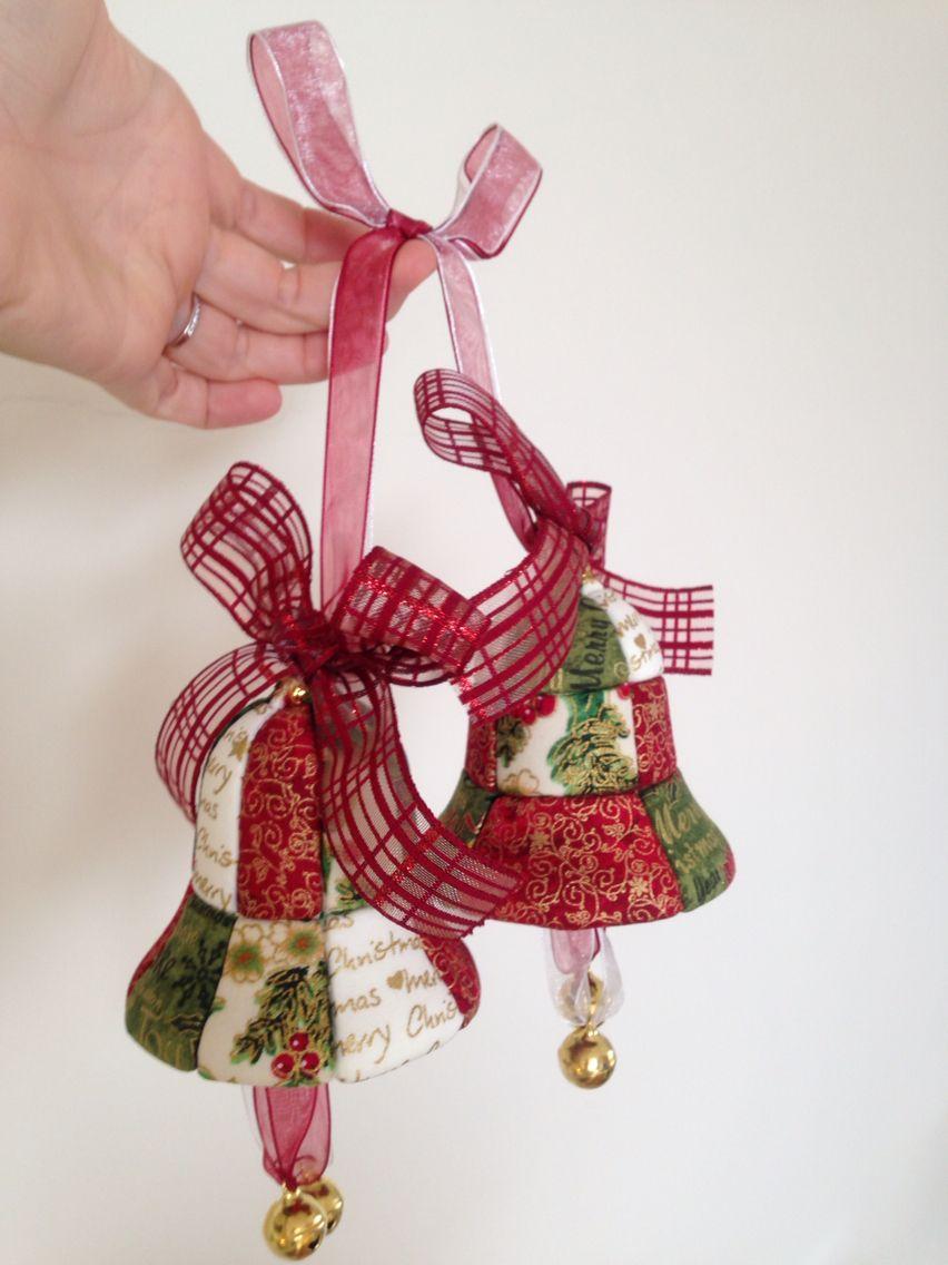 Manualidades De Navidad Campanas.Campanas Navidad Patchwork Manualidades Navidad Bolas De