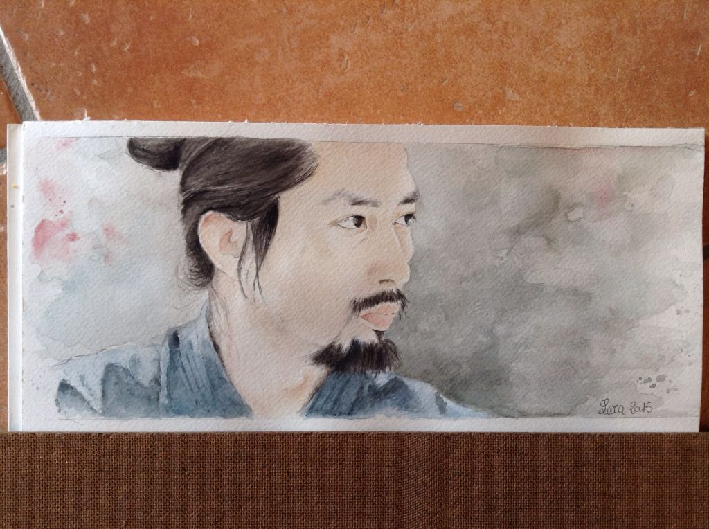 "never stray from the way.....mai allontanarsi dalla via !  ""Kendō training part 2"" watercolor on paper  #HiroyukiSanada #thelastsamurai #watercolor #art #arte #acquarello #真田広之  Hiroyuki Sanada"