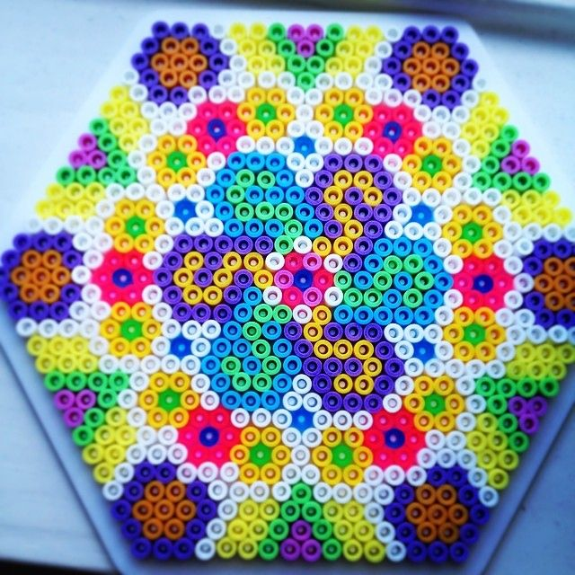 Mandala perler beads by sscooper
