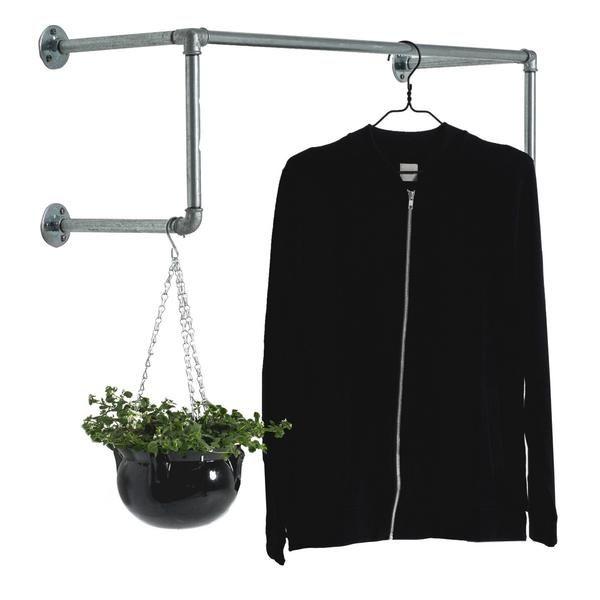 railhang dm ist eine funktionelle kleiderstange die direkt an der wand montiert wird sie wird. Black Bedroom Furniture Sets. Home Design Ideas