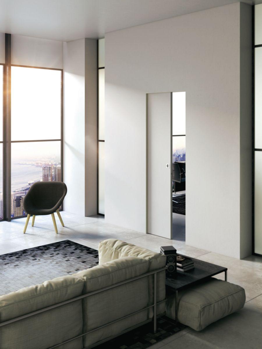 Chassis A Galandage Pour Porte Coulissante Simple Vantail Essential H 203 Cm L 90 Cm En 2020 Deco Appartement Porte Coulissante Meuble