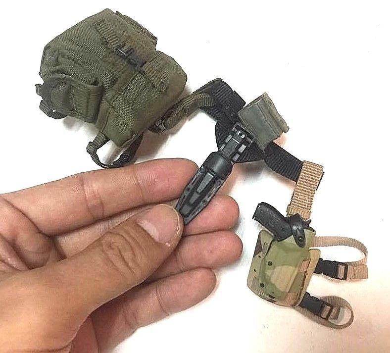 "1//6 Scale VeryHot USMC Rifleman Pistol+Holster+Belt for 12/"" figure use"
