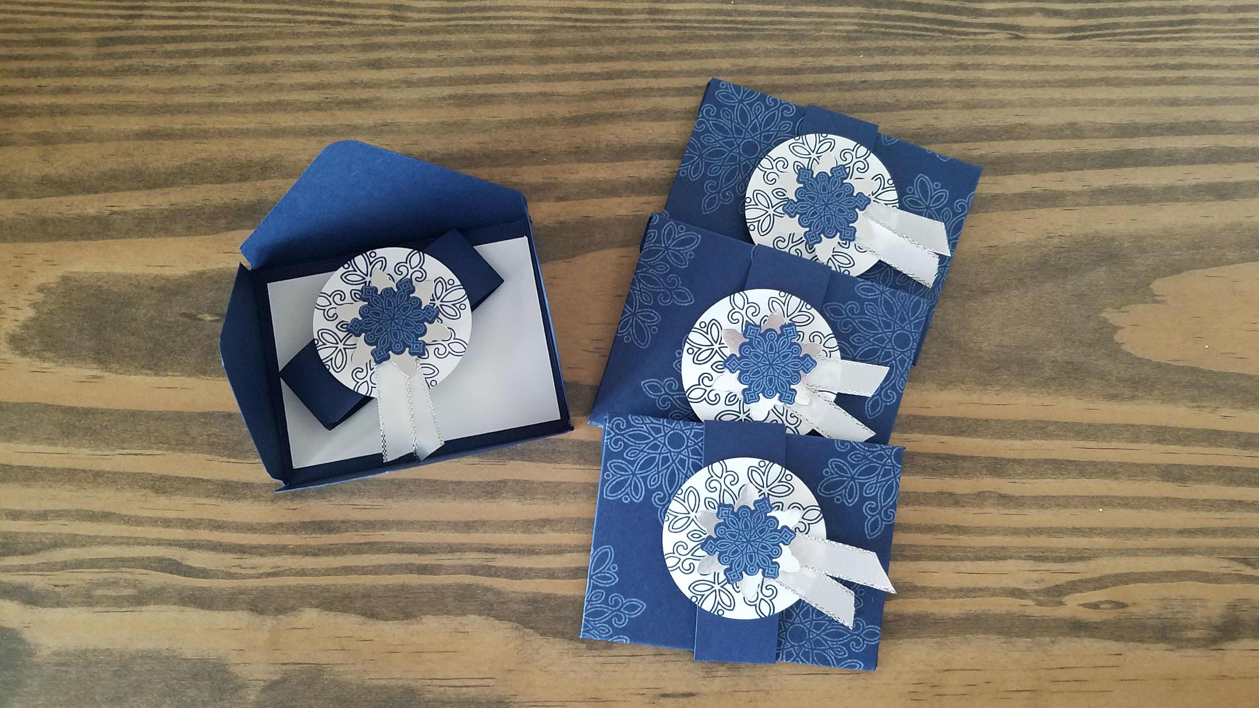 stamp your own dsp and make gift card holders using the envelope