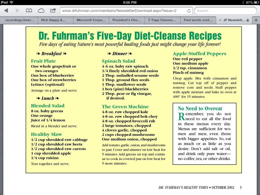 Dr  Joel Fuhrman's FiveDay DietCleanse Recipes The apple stuffed pepper sounds great!! is part of Nutritarian diet -