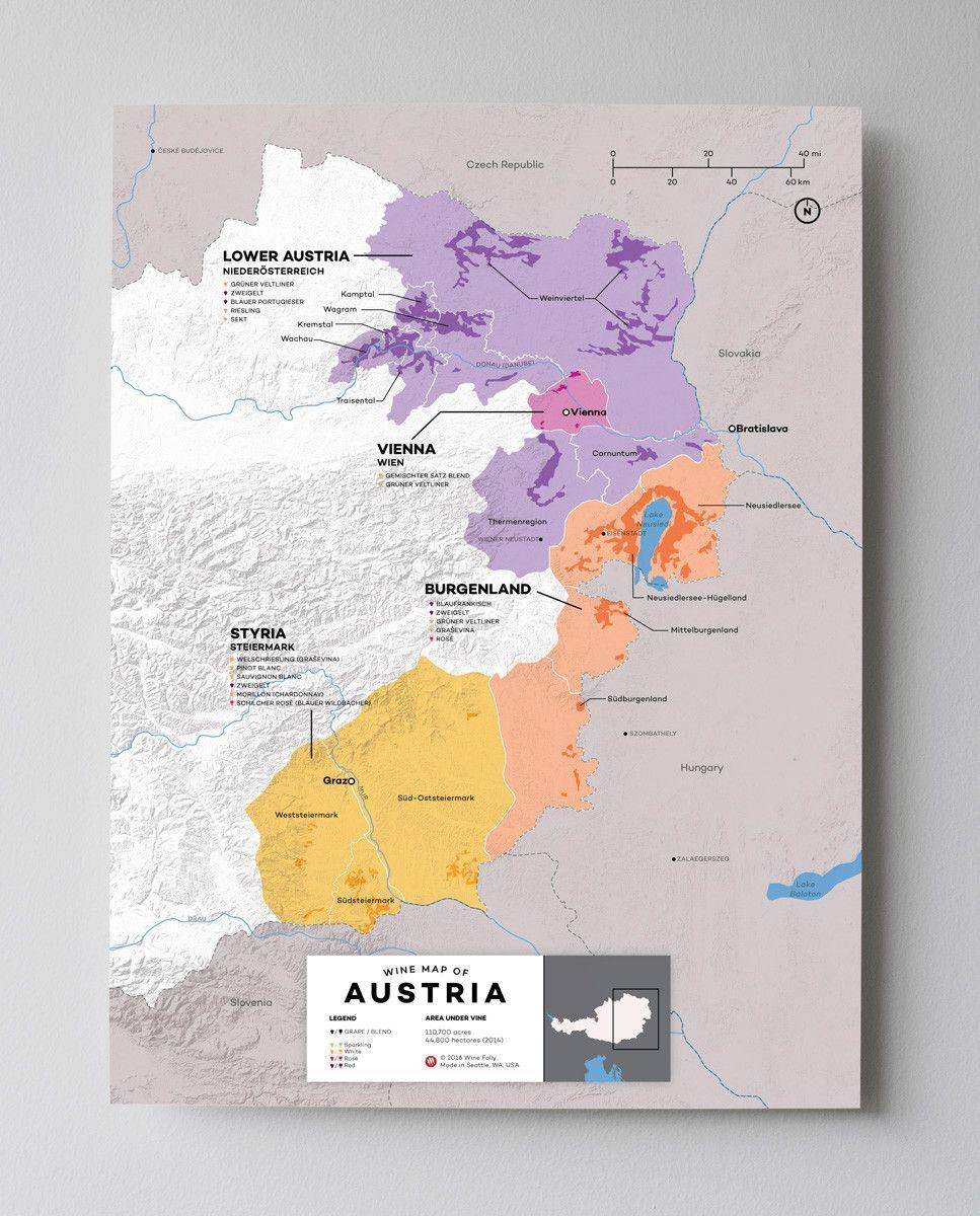 Austria Wine Map in 2019 Wine folly Italian wine