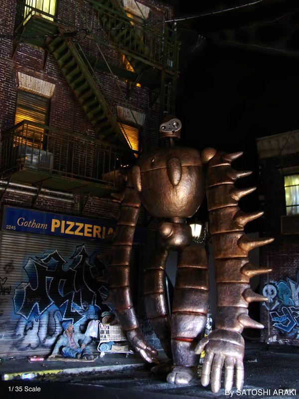 暗黒の都市・ゴッサムシティー<その4>ー建物制作編 : 情景師・アラーキーのジオラマでショー