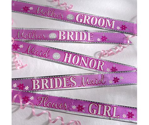 Bridal Party Sashes Party City Gifts For Wedding Party Wedding Bachelorette Party Bridal Party Sash