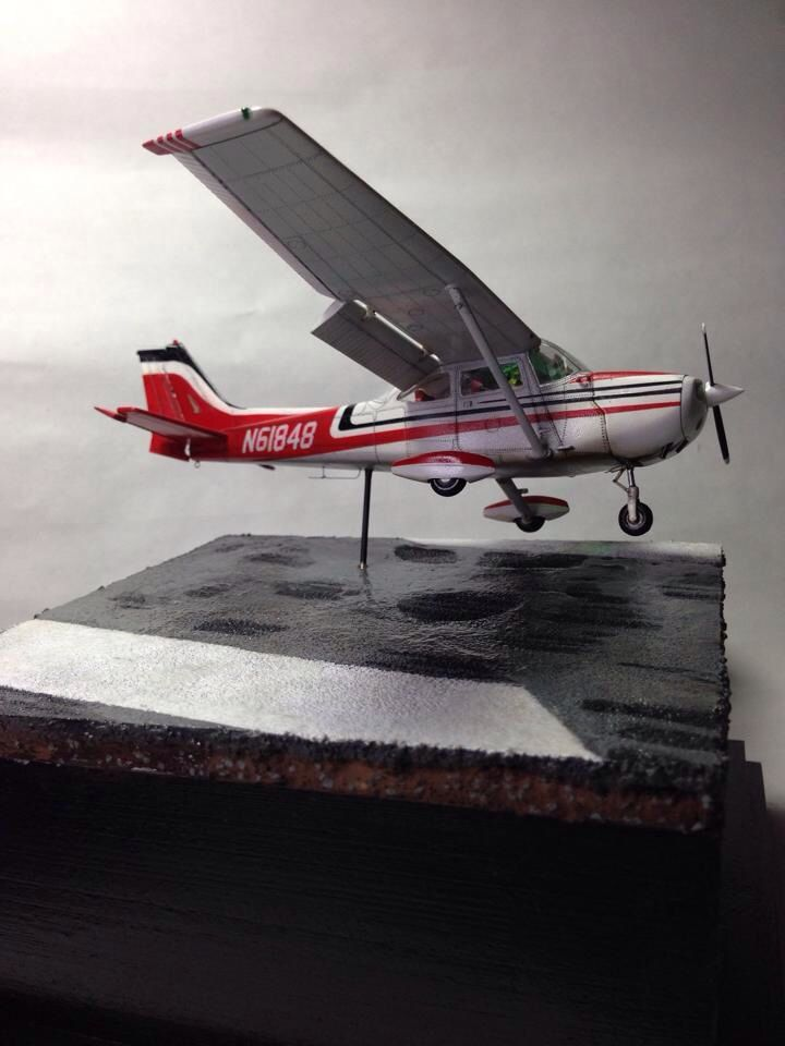 My first built after 30 years absent.   Tail number and paint job are from the plane flew.
