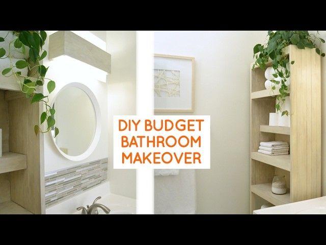 DIY small bathroom remodel budget bathroom ideas Diy small