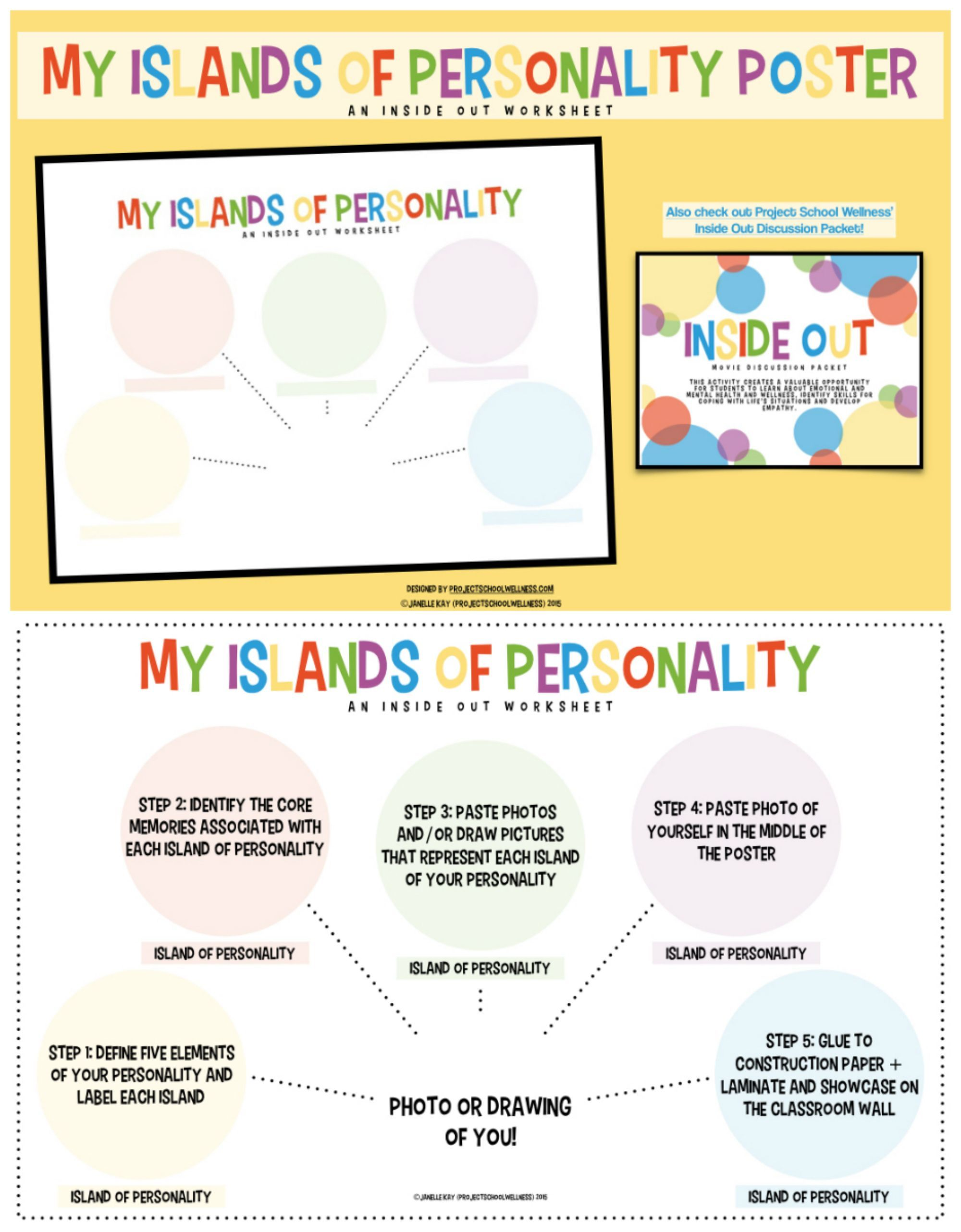 Personality Islands Inside Out Therapy Worksheets