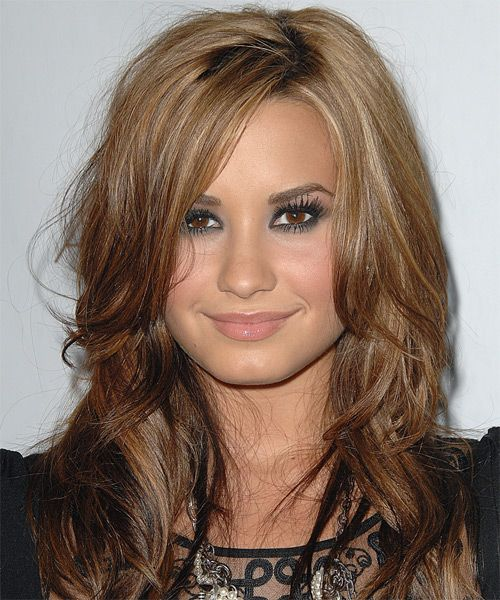 My new hair color!!   Blonde Wavy Demi Lovato Hairstyle