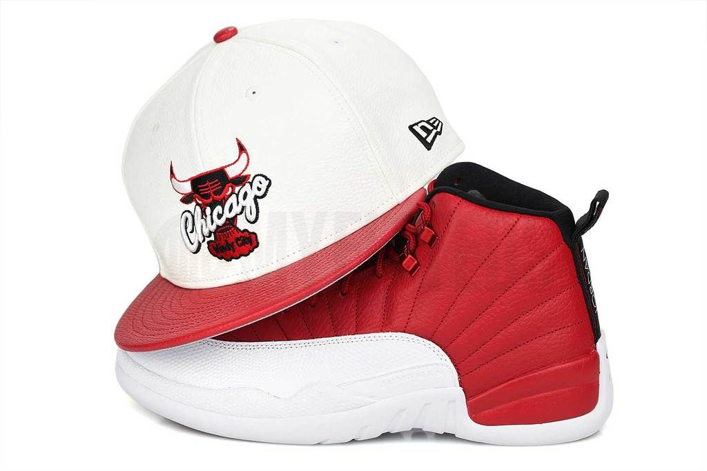 Chicago bulls faux pebbled air jordan xii gym red new