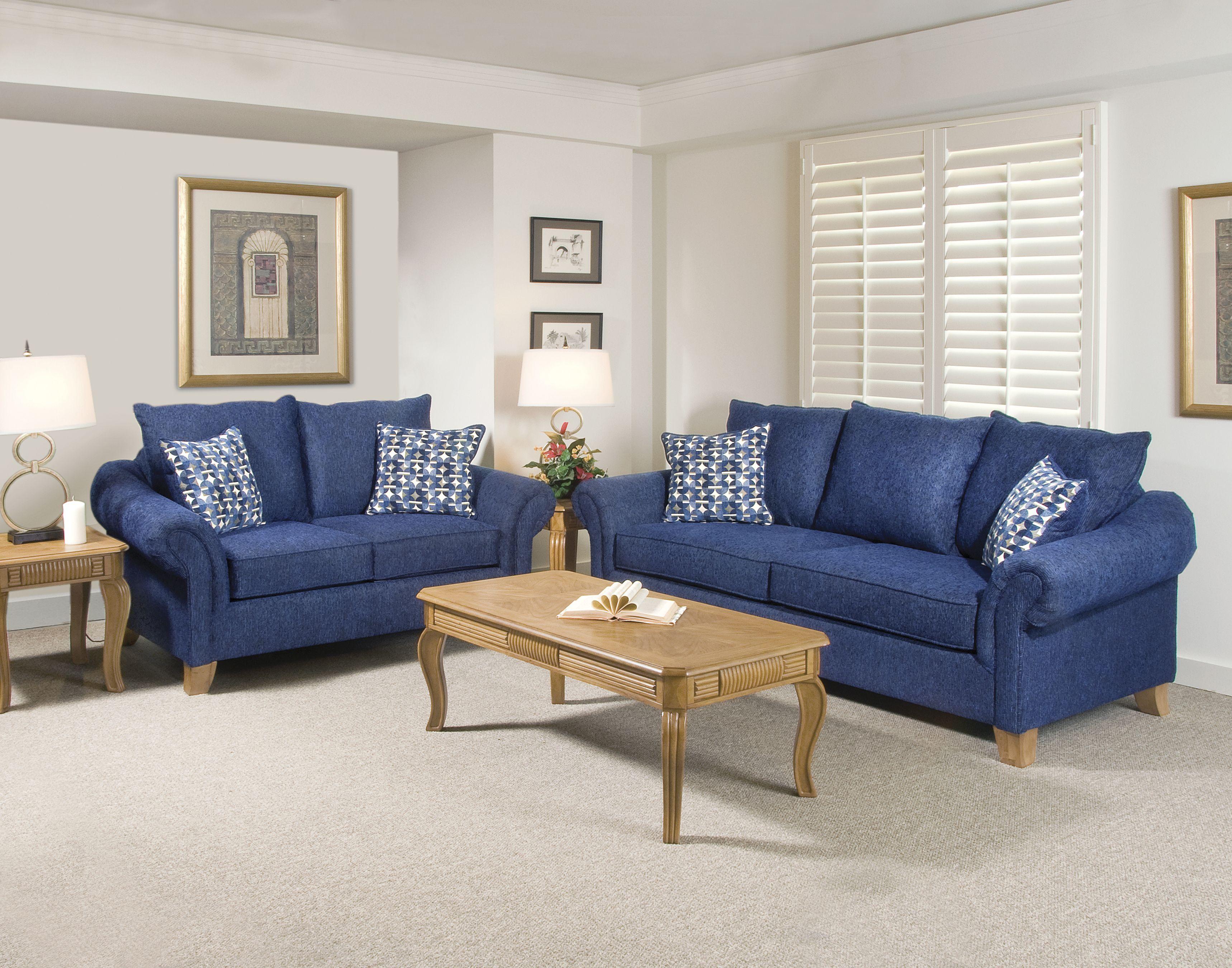 Room · navy blue furniture living