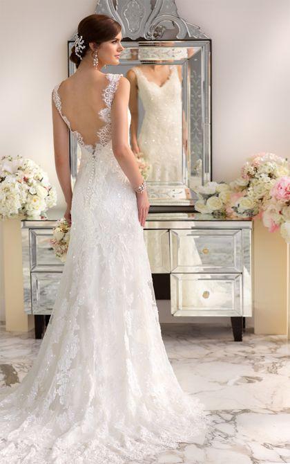 Modern Vintage Wedding Dress by   Modern vintage weddings, Vintage ...