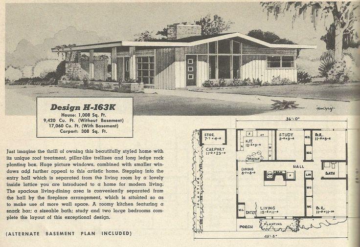 Mid Century Modern House Plans Uploaded to Pinterest house plans