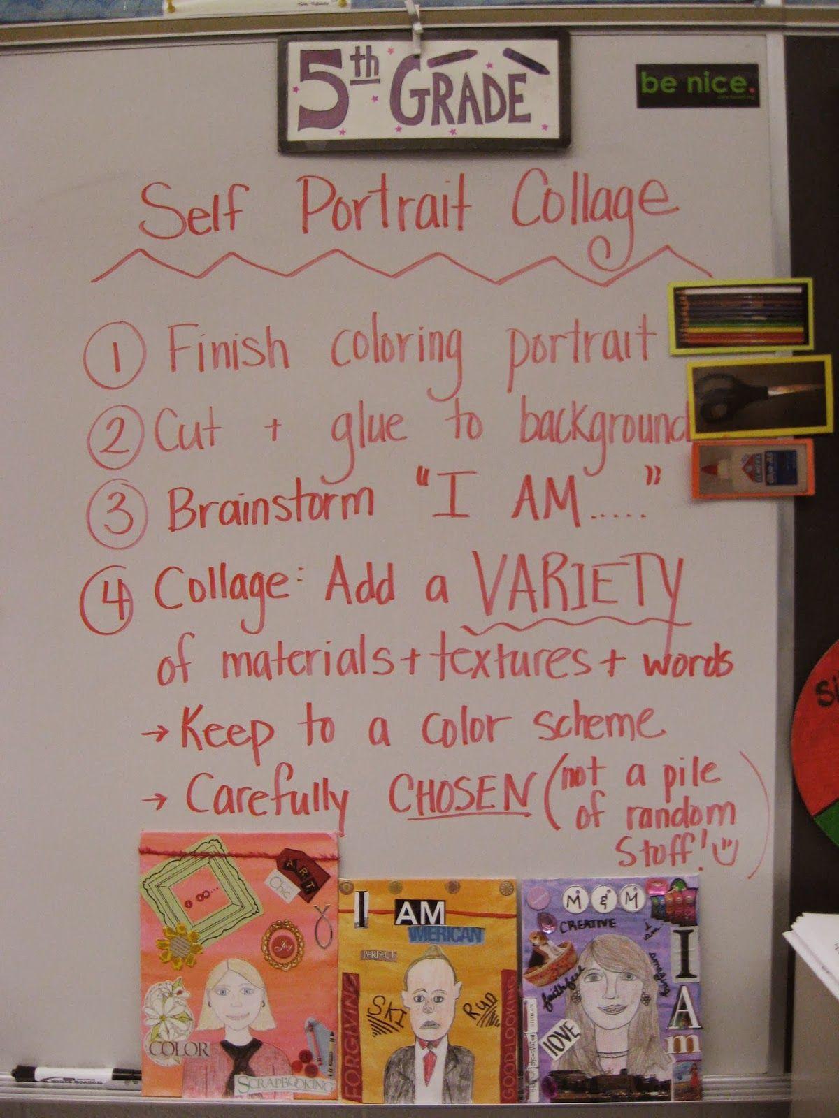 Jamestown Elementary Art Blog 5th Grade Self Portrait