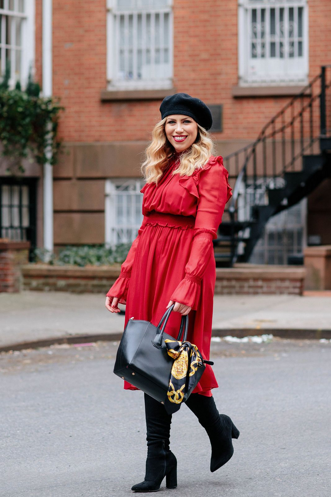 Lady In Red Why The Color Red Will Never Go Out Of Style Living After Midnite Style Nyfw Outfits Lady In Red [ 1600 x 1066 Pixel ]