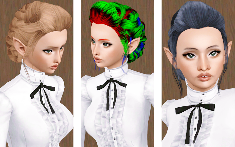 Beaverhausen The Store S Floral Updo Minus The Florals By Sims Hair Braided Hairstyles Sims 3