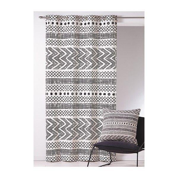 Rideau Coton Imprime Nomade Deco Ethnique Pinterest Rideaux