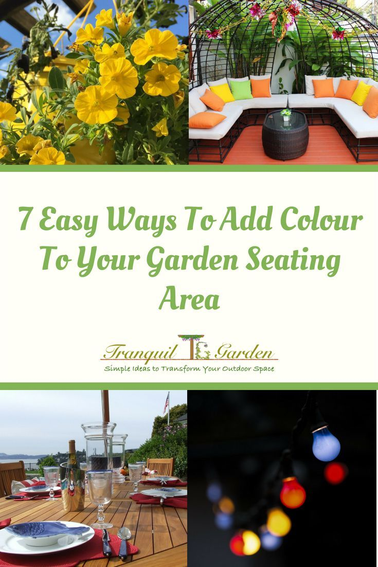 7 Easy Ways To Add Colour To Your Garden Seating Area is part of Balcony garden Seating - Are you inviting friends over to a party or barbecue  Do you feel like your garden seating area is drab and boring and needs something to make it more inviting and lively  Using colour is a sure way to add that extra impact and transform your outdoor space into a tranquil garden