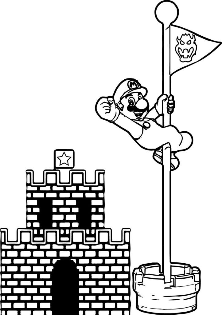 Mario Coloring Pages Video Game Coloring Pages Mario