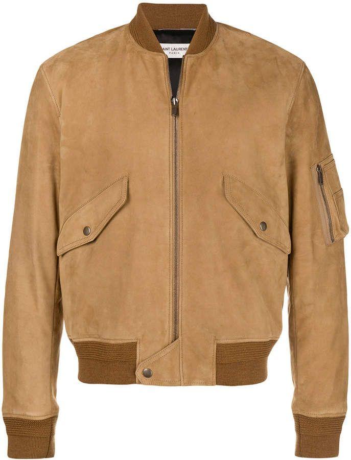 e996619db6 Saint Laurent bomber jacket Jaqueta De Couro