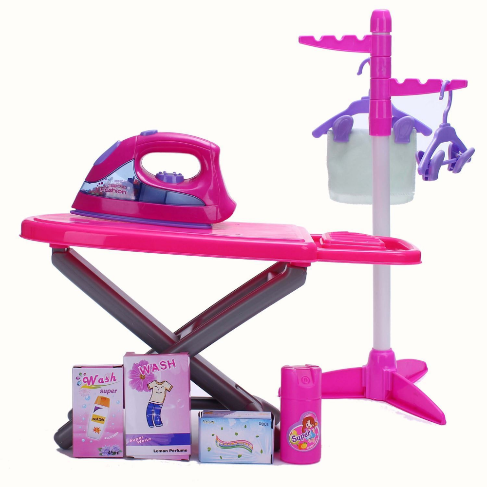 Kids Children Magical Iron Ironing Board Set Laundry Role Play