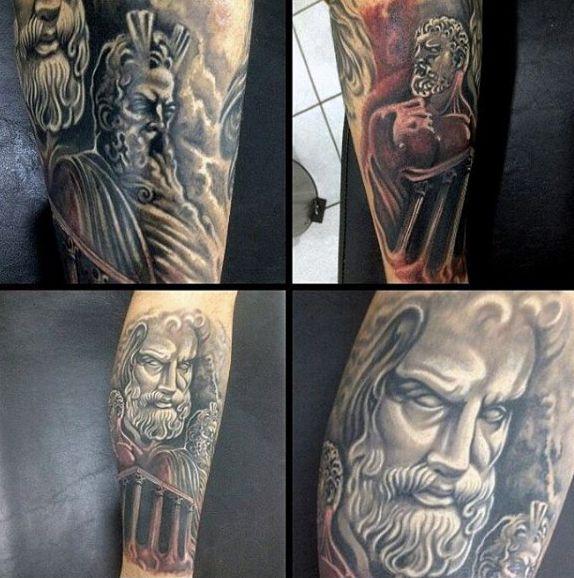 60 Greek Tattoos For Men - Mythology And Ancient Gods ...